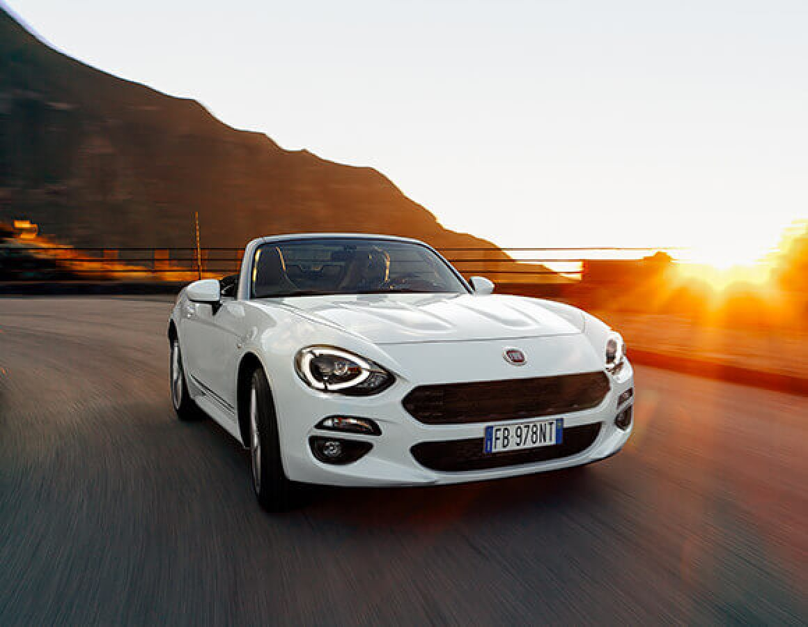 Fiat 124 Spider frontale laterale