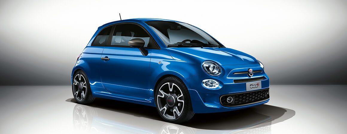 Fiat 500 blu elettrico